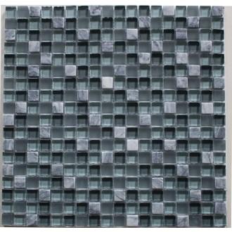 Mosaik 1,5x1,5 grau mix