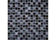 Mosaik 1,5x1,5 schwarz-grau