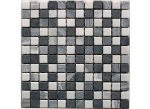 Mosaik 2,3x2,3 nero-Mix