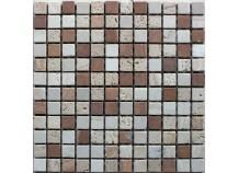 Mosaik 2,3x2,3 Rosso-Mix