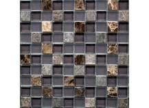 Mosaik 2,3x2,3 braun