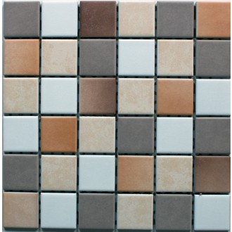Mosaik 5x5 weiß beige cotto Mix