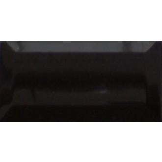 Wandfliese 10x20 Metro schwarz glänzend