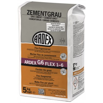 Ardex G6 Fugenmörtel Flex 5kg zementgrau