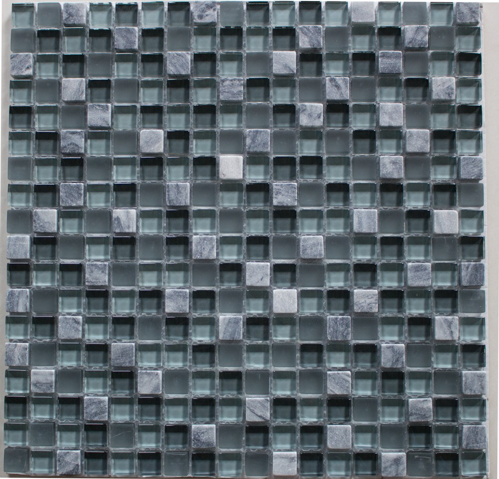 Mosaik X Grau Mix - Mosaik fliesen grau mix