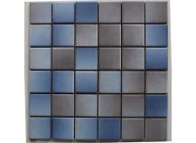 Mosaik 5x5 blau grau