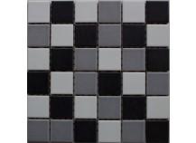 Mosaik 5x5 weiß grau schwarz Mix