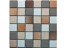 Mosaik 5x5 weiß beige cotto Mix