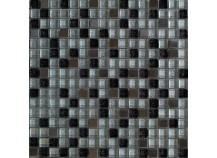 Mosaik 1,5x1,5 Silber Schwarz Mix