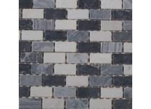 Mosaik 2,3x4,8 Nero-Mix